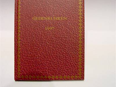 "PATEK PHILIPPE Hardcoverbuch ""Gedenkuhren 1997"""