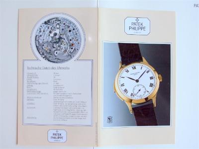 PATEK PHILIPPE Datenblatt & Beschreibung zur Referenz 3979 von 1989 in Deutsch