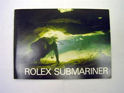 """Rolex SUBMARINER Booklet """"Übergangsreferenzen"""" 5513"""