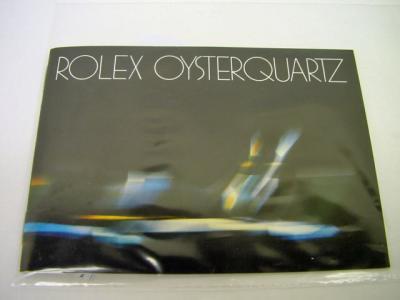 """ROLEX Booklet """"OYSTERQUARTZ"""""""