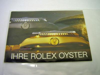 """ROLEX Booklet """"Ihre Rolex Oyster"""""""