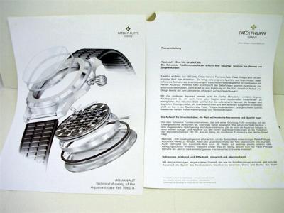 PATEK PHILIPPE Presseinformationen zur AQUANAUT Ref. 5060 A inkl. orig. Pressefotos mit Daten