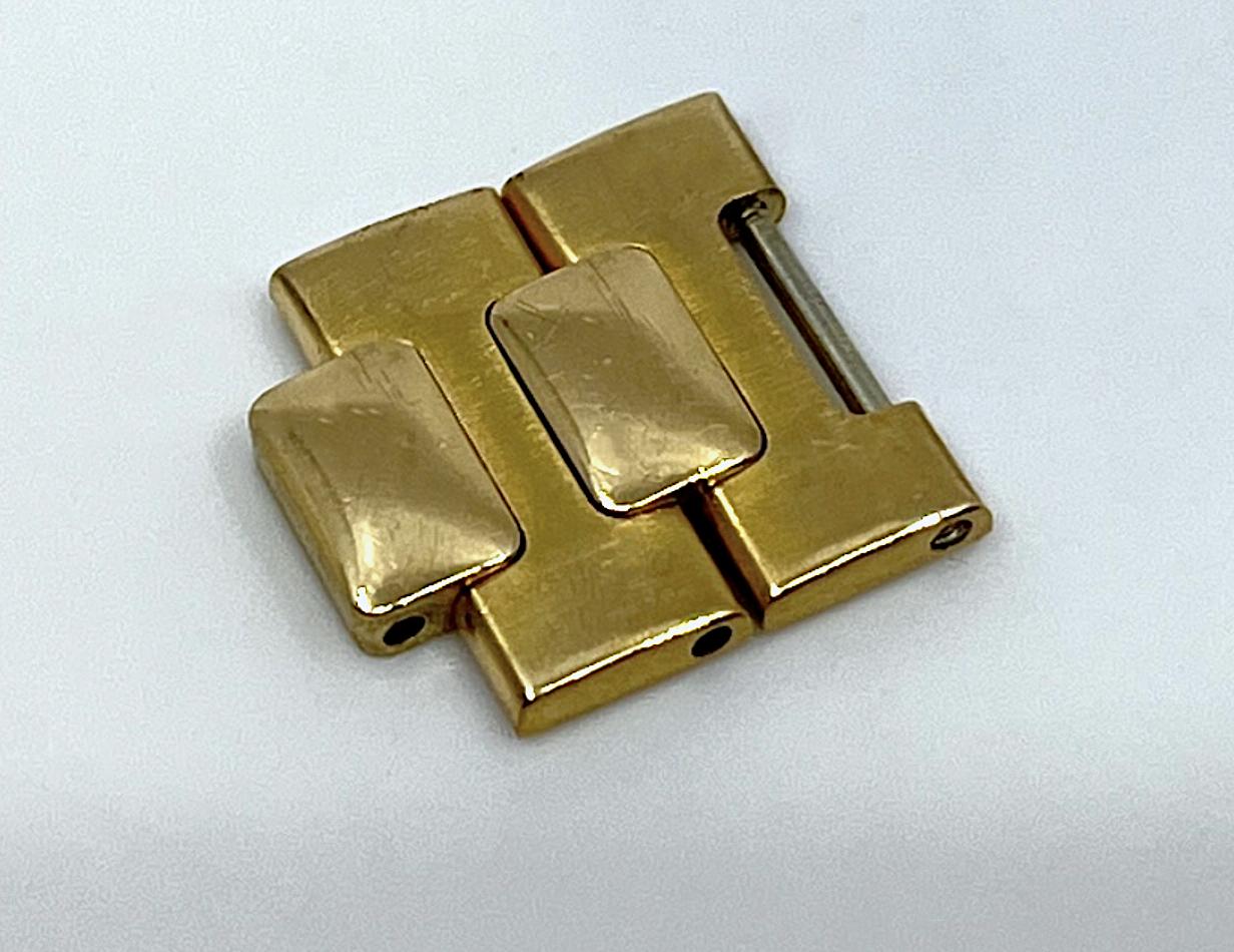PATEK PHILIPPE 2 Armbandelemente zur Ref. 3700 & 3800 Nautilus in 18k Gelbgold