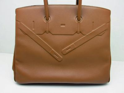 Limited Edition HERMES Shadow Birkin Bag 35 Alezan