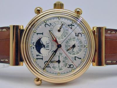 IWC Schaffhausen Da Vinci Perpetual Calendar Rattrapante in 18k Rotgold