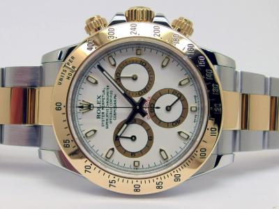 "ROLEX COSMOGRAPH DAYTONA ""white Dial"" Referenz 116523 in Stahl & Gold"