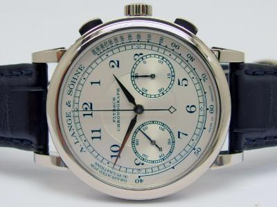 Sondermodell A. LANGE & SÖHNE 1815 Chronograph Flyback Boutique Edition in 18k Weißgold