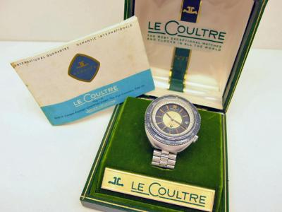 Vintage Jaeger LeCoultre MEMOVOX POLARIS II GT in Stahl mit JLC NSA Metallarmband