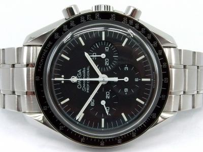 OMEGA SPEEDMASTER PROFESSIONAL Moonwatch in Edelstahl mit Glasboden