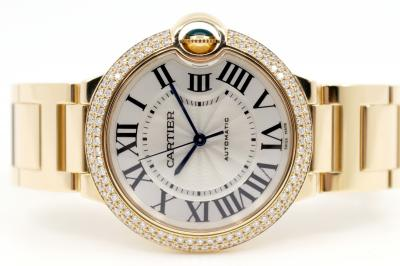 "CARTIER Ballon Bleu de Cartier ""Diamonds"" in 18k Gelbgold"
