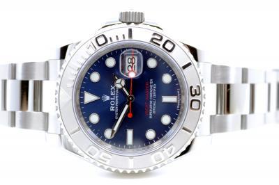 """gebraucht ROLEX YACHT-MASTER """"blue"""" Chronometer in Stahl"""