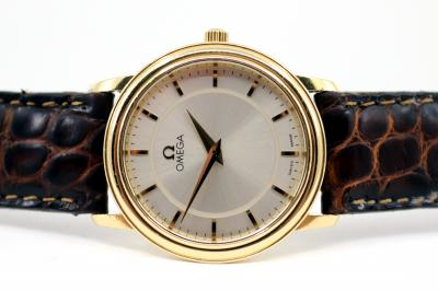 pre owned OMEGA De Ville Prestige in 18k Yellowgold
