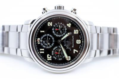 pre owned BLANCPAIN Leman Flyback Chronograph & Perpetual Calendar