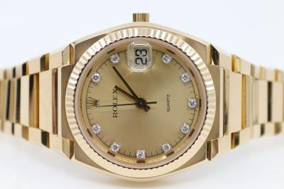 "pre owned Limited ROLEX ""IL TEXANO"" Beta 21 in 18k Yellowgold"