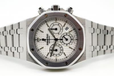 pre owned Audemars Piguet ROYAL OAK Chronograph in Steel