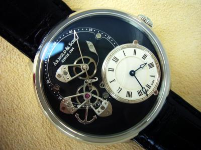 gebraucht Arnold & Son Instrument Collection limited DSTB Dial Side True Beat in Edelstahl
