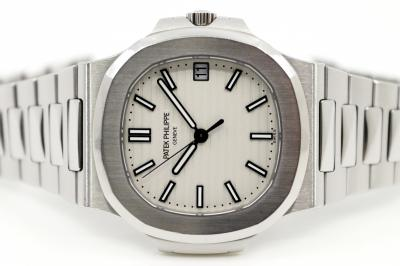 pre owned PATEK PHILIPPE Jumbo NAUTILUS white
