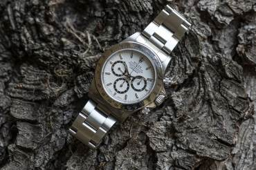 """pre owned ROLEX Cosmograph Zenith DAYTONA """"inverted 6"""" in stainless Steel"""
