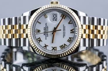 pre owned ROLEX DATE-JUST Chronometer in Steel & Yellowgold
