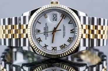 gebraucht ROLEX DATE-JUST Chronometer in Stahl & Gelbgold