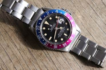 pre owned Vintage ROLEX GMT-MASTER PEPSI MKI