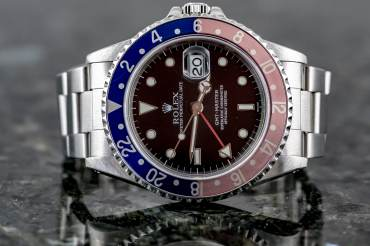 "pre owned ROLEX GMT MASTER Chronometer ""PEPSI"" in Steel"