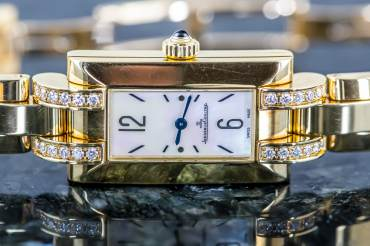 gebraucht Jaeger LeCoultre Idéale in 18k Gelbgold