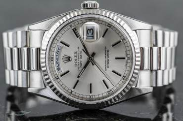 pre owned ROLEX DAY-DATE Chronometer in 950 Platinum
