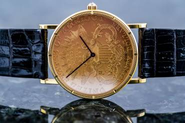 pre owned Vintage CORUM COIN WATCH Double Eagle US $ 20