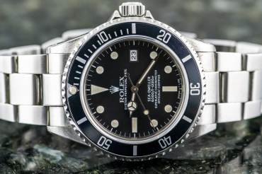 "pre owned Rare ROLEX SEA DWELLER Chronometer ""Triple Six"" in Steel"
