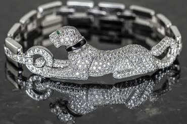 gebraucht CARTIER Panthère de Cartier Armband in 18k Weißgold