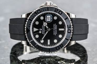 pre owned ROLEX YACHT-MASTER 42 Chronometer Oysterflex in Whitegold