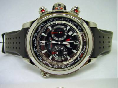 """JAEGER LE COULTRE """"MASTER EXTREME WORLD CHRONO"""" in Edelstahl & Titan"""