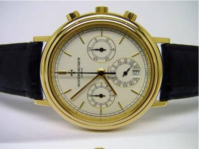 Vacheron Constantin Chronograph mit Datum in 18k Gelbgold