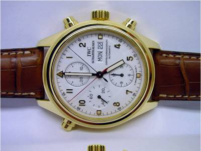 IWC Flieger Doppelchronograph in Gelbgold