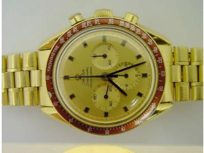 OMEGA SPEEDMASTER limitierte MOONWATCH 1969 in 18kt Gelbgold